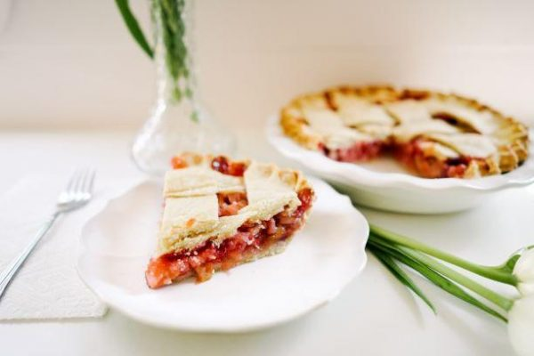 Strawberry Rhubarb Pie - Slice Pie Company Raleigh